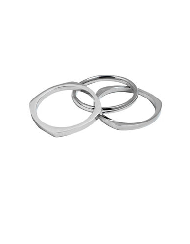 Vitaly Set of Three Shapes Rings-STAINLESS STEEL-9