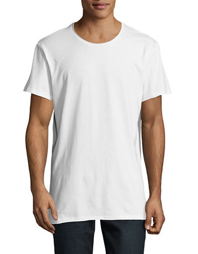 Vitaly Raw Edge T-Shirt-WHITE-Large