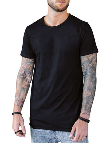Vitaly Fishtail T-Shirt-BLACK-X-Large