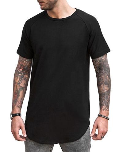 Vitaly Double-Scooped T-Shirt-BLACK-Large 88047278_BLACK_Large