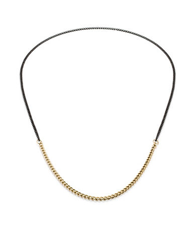 Vitaly Binary X Two-Tone Chain Necklace-GOLD-One Size