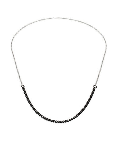 Vitaly Binary X Two-Tone Chain Necklace-BLACK-One Size