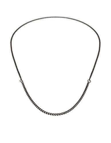 Vitaly Binary X Two-Tone Antiqued Chain Necklace-STEEL-One Size