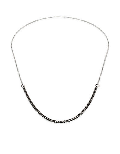 Vitaly Binary X Two-Tone Chain Necklace-STEEL-One Size