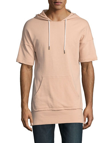 Vitaly Short Sleeve Cotton Hoodie-BEIGE-Medium