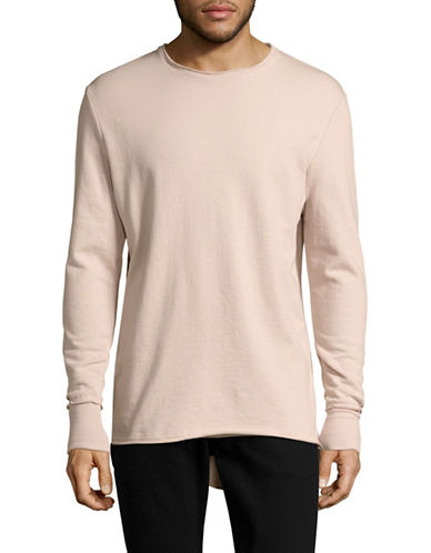 Vitaly Roll-Edge Fishtail Sweater-BEIGE-Medium