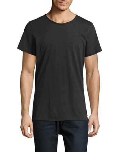 Vitaly Fishtail T-Shirt-BLACK-Medium