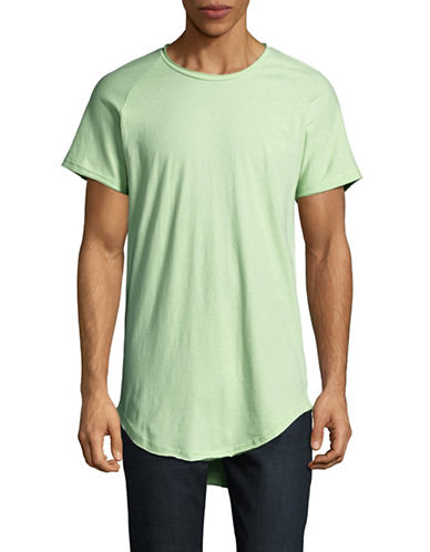 Vitaly Scooped T-Shirt-GREEN-X-Large