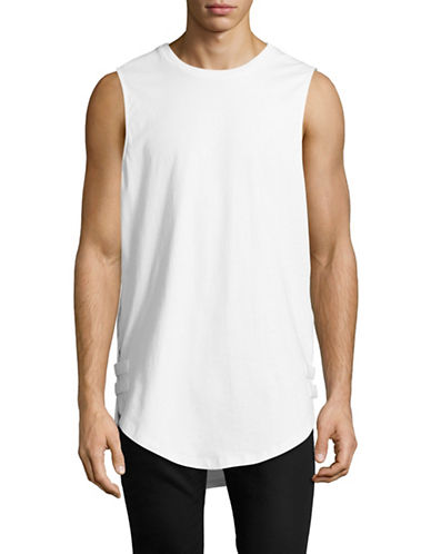 Vitaly Strapped Tank Top-WHITE-Large
