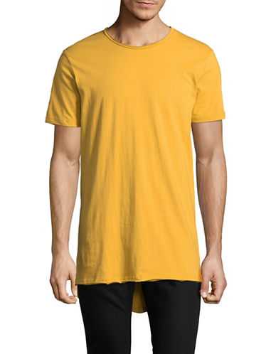 Vitaly Fishtail Tee-YELLOW-Large