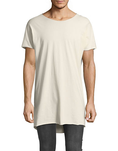 Vitaly Longline Layering Cotton Tee-NATURAL-X-Large