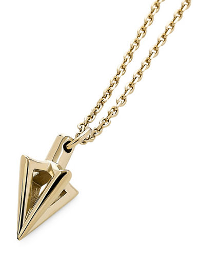 Vitaly Stainless Steel Arcus Pendant Necklace-GOLD-One Size