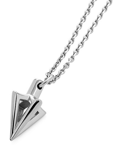 Vitaly Arcus Stainless Steel Pendant Necklace-SILVER-One Size