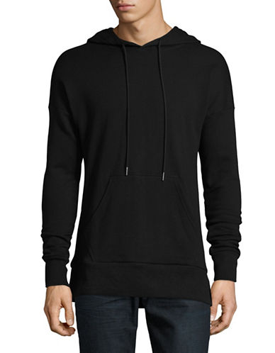 Vitaly Kangaroo Pocket Cotton Hoodie-BLACK-Large