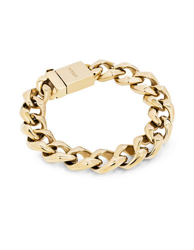Vitaly Stainless Steel Clash Bracelet-GOLD-8.5