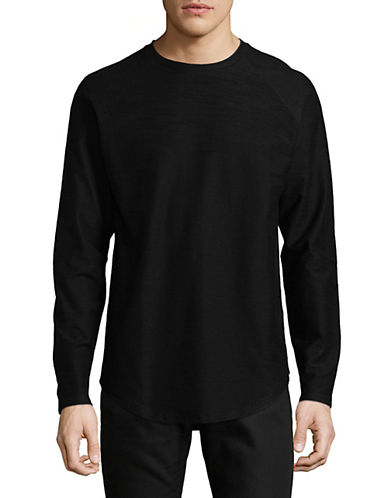 Vitaly Scooped Long-Sleeve T-Shirt-BLACK-Large 90063048_BLACK_Large