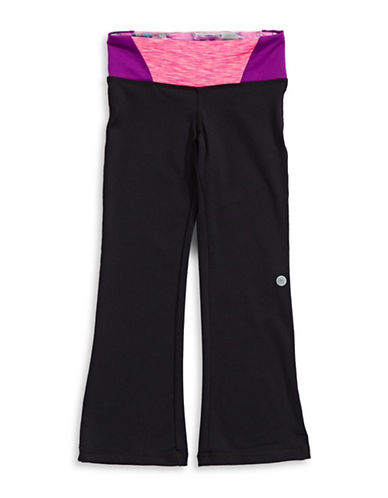 Jill Yoga Printed Wrap-Waist Yoga Pants-BLACK/PURPLE-6 88716516_BLACK/PURPLE_6