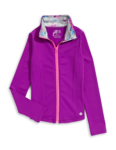 Jill Yoga Classic Yoga Jacket-PURPLE-X-Large 88558914_PURPLE_X-Large