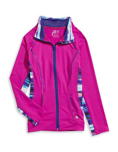 Jill Yoga Cut-and-Sew Yoga Jacket-MAGENTA-Large 88468134_MAGENTA_Large