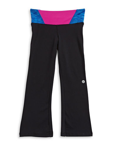 Jill Yoga Printed Wrap-Waist Yoga Pants-BLACK-Large 88468142_BLACK_Large