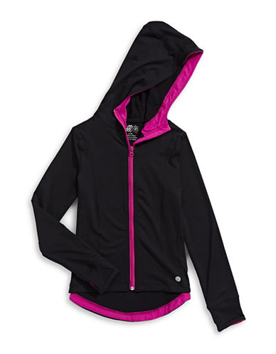 Jill Yoga Printed Zip-Up Hoodie-BLACK-Medium 88716535_BLACK_Medium