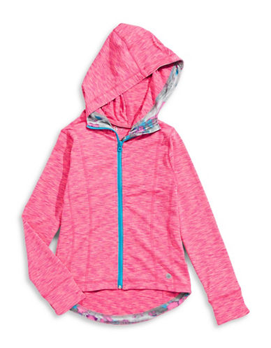 Jill Yoga Printed Zip-Up Hoodie-PINK-X-Large 88716541_PINK_X-Large