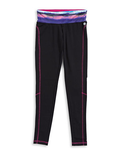 Jill Yoga Printed Leggings-BLACK-X-Large 88716549_BLACK_X-Large