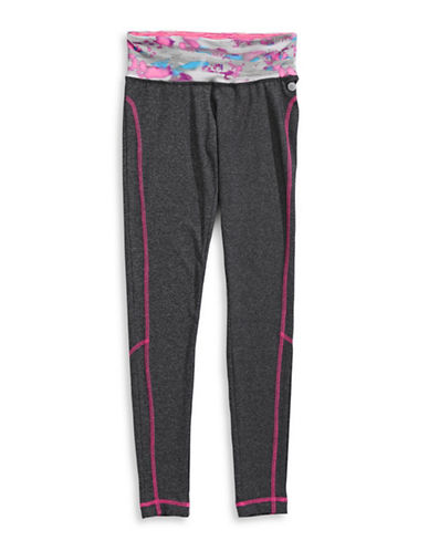 Jill Yoga Printed Leggings-GREY-X-Large 88716553_GREY_X-Large