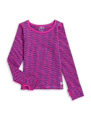 Jill Yoga Seamless Quarter-Zip Top-PINK-Large/X-Large 88468137_PINK_Large/X-Large