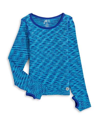 Jill Yoga Seamless Space Dye Top-BLUE-Large/X-Large 88468139_BLUE_Large/X-Large