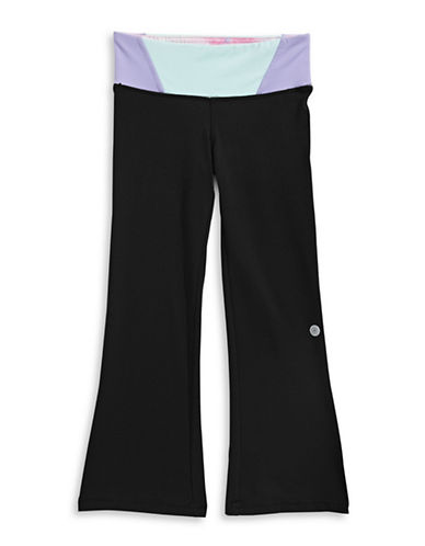 Jill Yoga Colourblocked Waistband Yoga Pants-BLACK-X-Large 88964298_BLACK_X-Large