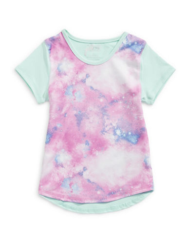 Jill Yoga Tie-Dye Print Scoop Hem T-Shirt-PURPLE-3 88961700_PURPLE_3