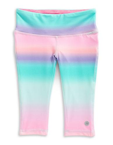 Jill Yoga Tie-Dye Print Capri Leggings-BLUE-3 89076815_BLUE_3