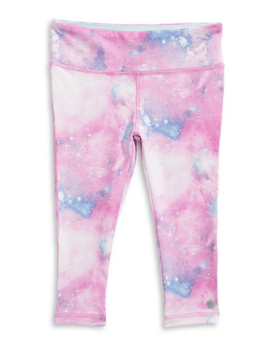 Jill Yoga Tie-Dye Print Capri Leggings-PURPLE-2 88961714_PURPLE_2