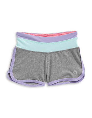 Jill Yoga Colourblocked Retro Shorts-GREY-4 89076841_GREY_4