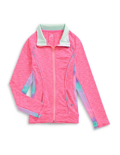 Jill Yoga Cut-and-Sew Active Jacket-PINK-X-Large 89026058_PINK_X-Large