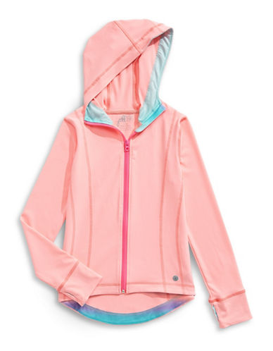 Jill Yoga Hooded Yoga Jacket-CORAL-X-Large