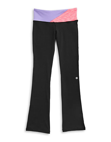 Jill Yoga Colourblocked Waistband Yoga Pants-BLACK-X-Large 89026070_BLACK_X-Large