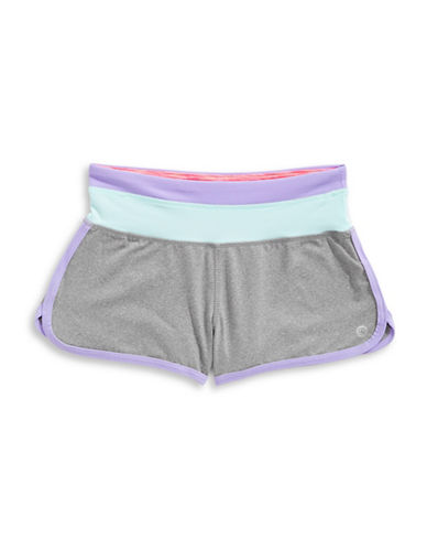 Jill Yoga Colourblock Retro Shorts-GREY-Medium 89026076_GREY_Medium