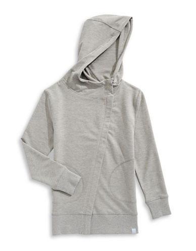 Jill Yoga Fleece Zip-Up Hoodie-GREY-Large 89026081_GREY_Large