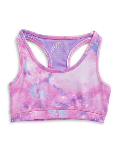 Jill Yoga Printed Sports Bra-PURPLE-Medium 89078686_PURPLE_Medium