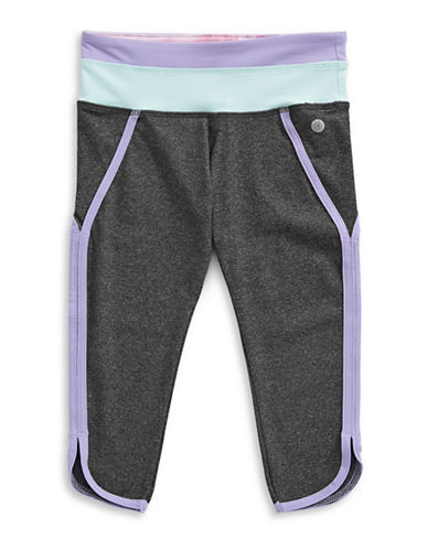 Jill Yoga Colourblocked Retro Capri Leggings-GREY-Large 89078691_GREY_Large