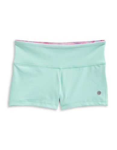 Jill Yoga Wide Waistband Shorts-BLUE-X-Large