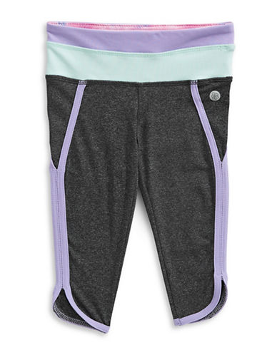 Jill Yoga Colourblocked Capri Leggings-GREY-4