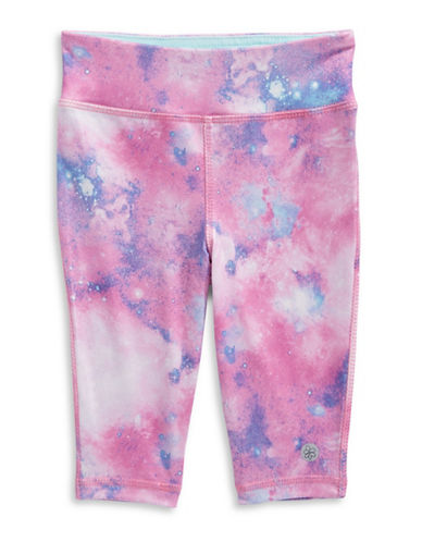 Jill Yoga Printed Capri Leggings-PURPLE-18-24 Months