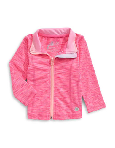 Jill Yoga Space Dye Zip Jacket-PINK-12-18 Months