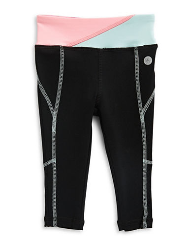 Jill Yoga Colourblocked Waistband Yoga Pants-BLACK-18-24 Months