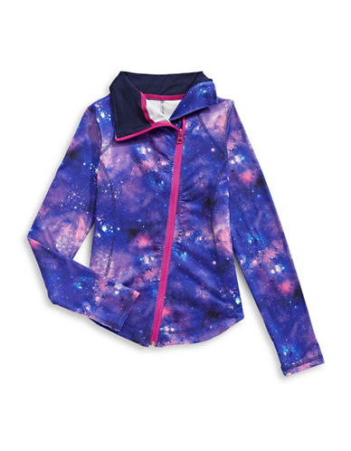 Jill Yoga Yoga Funnel Neck Galaxy Zip-Up Jacket-BLUE-6 89285074_BLUE_6