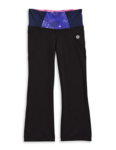 Jill Yoga Star Waistband Yoga Pants-BLACK-2T