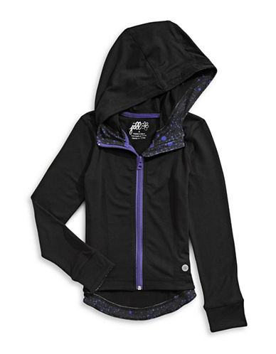 Jill Yoga Hi-Lo Hooded Jacket-BLACK-2